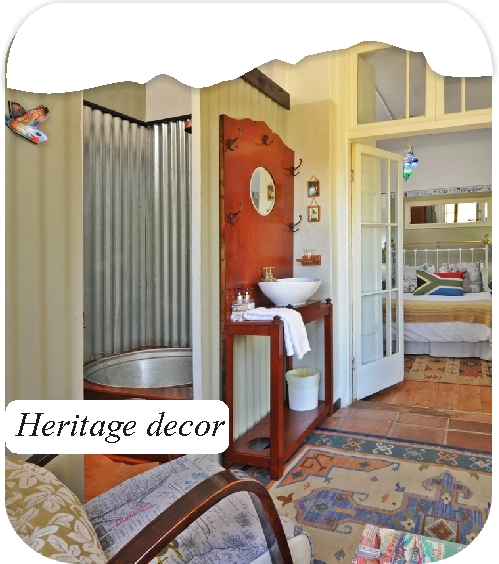 Aan de Doorns Worcester Rooms Facilites heritage decor