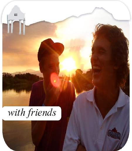 Aan de Doorns Guesthouse sunset and  friends